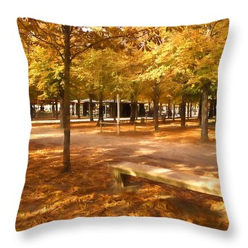 Impressions Of Paris - Tuileries Garden - Come Sit A Spell Throw Pillow