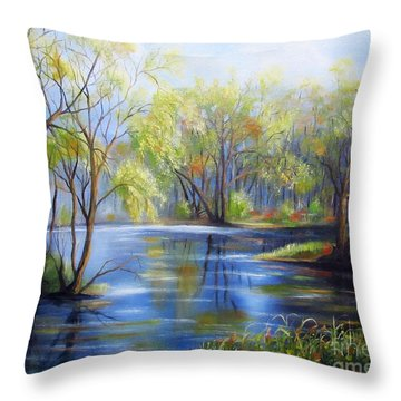 Impressions Of Spring Throw Pillow
