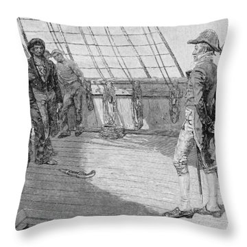 Impressment Of American Seamen, Illustration From Our Countrys Cradle By Thomas Wentworth Throw Pillow