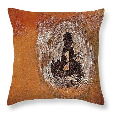 Throw Pillow featuring the photograph Imprintable by Delona Seserman