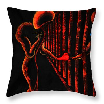Imprisoned Love Throw Pillow