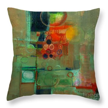 Improvisation Throw Pillow by Michelle Abrams