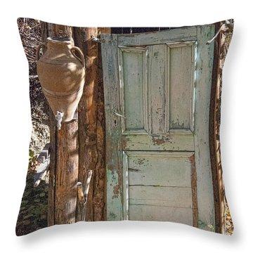 Improvised Outhouse Throw Pillow