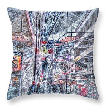 Throw Pillow featuring the mixed media Improviz Street by Yury Bashkin