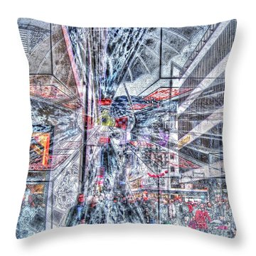 Improviz Street Throw Pillow by Yury Bashkin