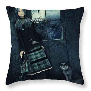 In A Dark Room Throw Pillow