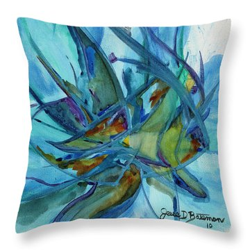 In A Fishbowl Throw Pillow