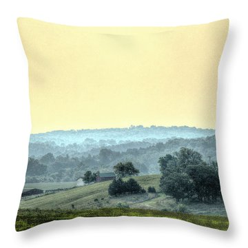 In A Misty Hollow Throw Pillow by William Fields