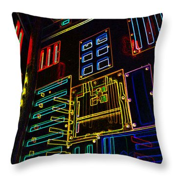 In A Neon-box Throw Pillow