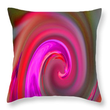 In A Swirl Of Love Throw Pillow by Jean Booth