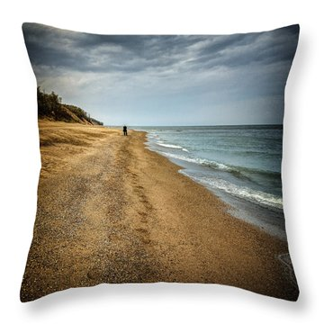 In All Things You Do Consider The End Throw Pillow by Jeff Burton