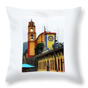 Throw Pillow featuring the photograph In Amixtlan by Joy Nichols