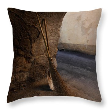 In An Ancient Village Throw Pillow by Susan Rovira