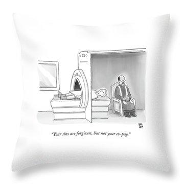 In An Mri Machine Throw Pillow