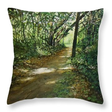 In And Out Of The Shadows Throw Pillow