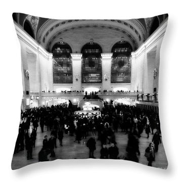 In Awe At Grand Central Throw Pillow
