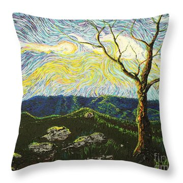 In Between A Rock And A Heaven Place Throw Pillow