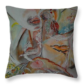 In Between Birds And Lovers Throw Pillow