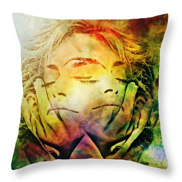 In Between Dreams Throw Pillow by Ally  White