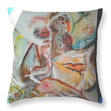In Between Leafs And Lovers Throw Pillow