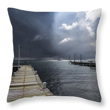 In Between Light And Shadows Throw Pillow