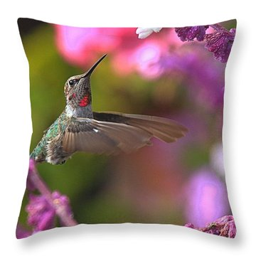 In Between Meals Throw Pillow