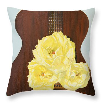 In-between Notes Throw Pillow by Joseph Demaree