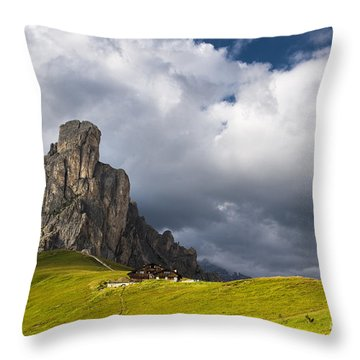 In Between Peaks And Clouds Throw Pillow