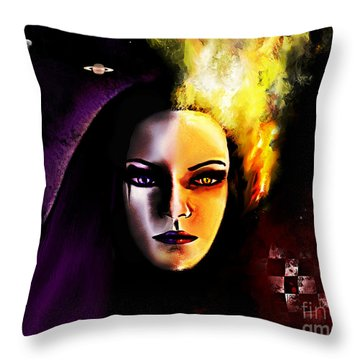 In Between Throw Pillow by Persephone Artworks