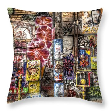 In Between The Lines Throw Pillow