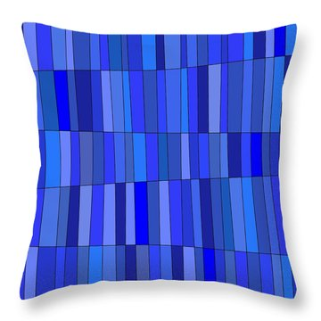 In Blue Please Throw Pillow