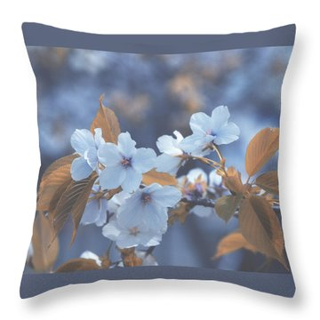 In Blue Throw Pillow by Rachel Mirror