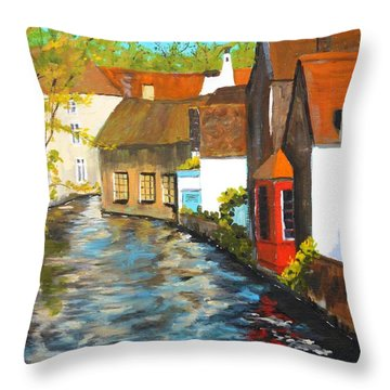 In Bruges Throw Pillow by Diane Arlitt