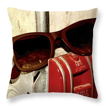 In Case Of Fire Grab Shades Throw Pillow