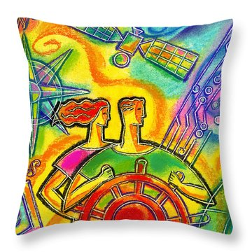 In Charge Throw Pillow by Leon Zernitsky