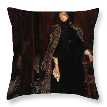 In Church, 1865 Throw Pillow