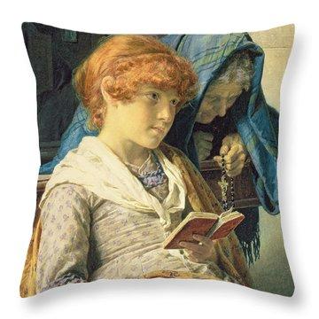 In Church Throw Pillow by Luigi da Rios