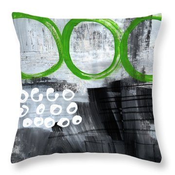 In Circles- Abstract Painting Throw Pillow