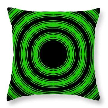 In Circles-green Version Throw Pillow by Roz Abellera Art