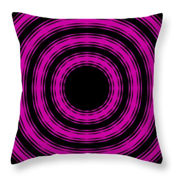 Throw Pillow featuring the painting In Circles-pink Version by Roz Abellera Art