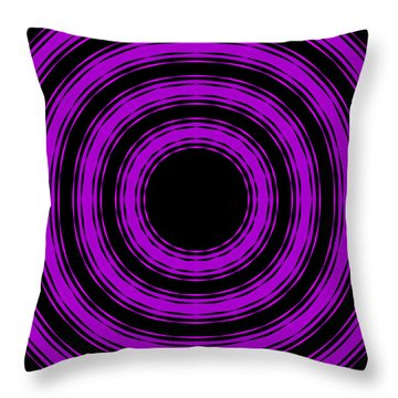 Throw Pillow featuring the painting In Circles-purple Version by Roz Abellera Art