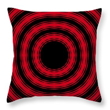 In Circles- Red Version Throw Pillow by Roz Abellera Art