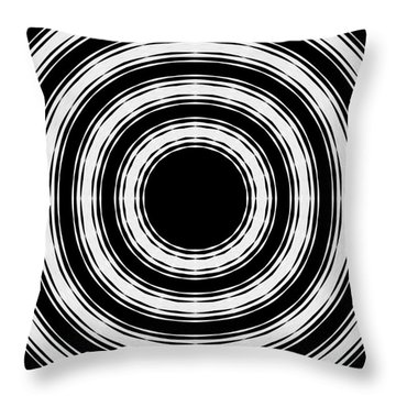 Throw Pillow featuring the painting In Circles by Roz Abellera Art