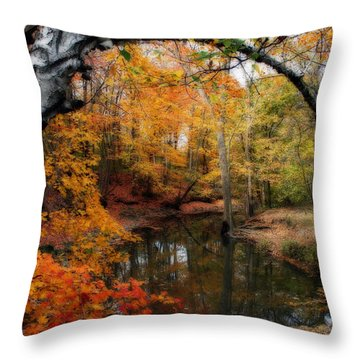 In Dreams Of Autumn Throw Pillow
