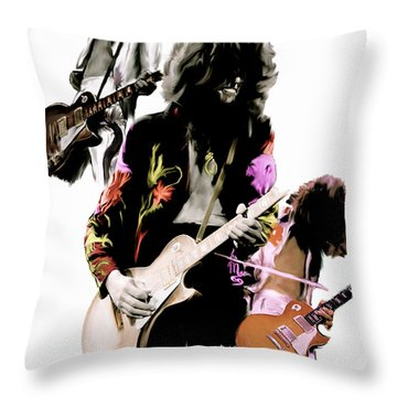 In Flight Iv Jimmy Page  Throw Pillow by Iconic Images Art Gallery David Pucciarelli