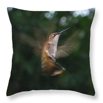 Throw Pillow featuring the photograph In Flight by Photographic Arts And Design Studio