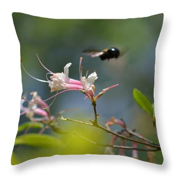 Throw Pillow featuring the photograph In Flight by Tara Potts