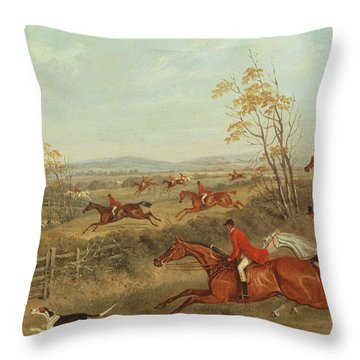 In Full Cry Throw Pillow by James Russell Ryott