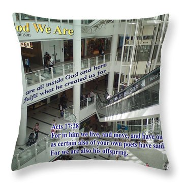In God We Are Throw Pillow