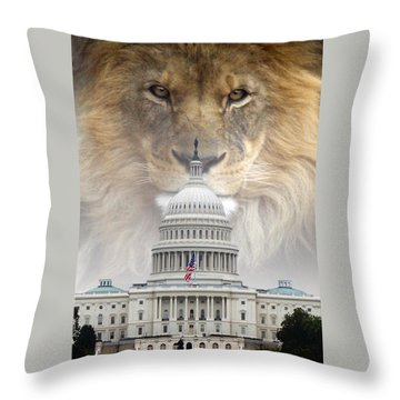 In God We Trust Throw Pillow by Bill Stephens